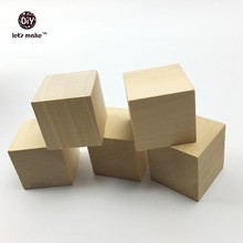 Let's Make DIY Cubes 20pc Personalized Square Solid Wood Blocks 2.5cm Toddler toy custom made Wood Home/Wedding Decoration Beads