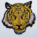 Grandes remendos de tigre para roupas 3d bordado remendos de engomar diy ferro em tigre parches bordado apliques animais