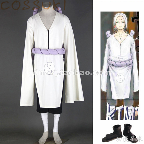 Free Shipping! Stock! Naruto Kimimaro Robe Full Set Cosplay Costume Suits ,Perfect Custom For you!