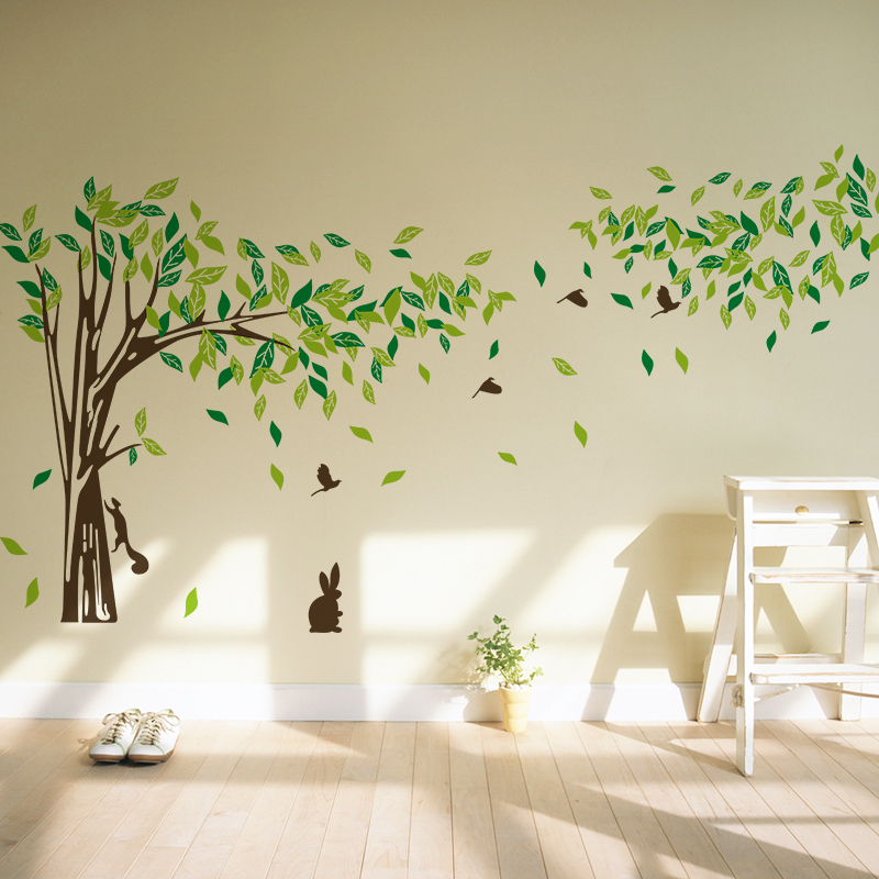 Free Shipping Big Size Trees Living Room TV Wall Stickers Tree Wall Stickers  Removable Two Sizes