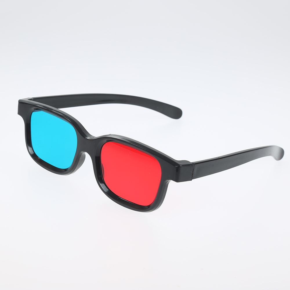 New Red Blue 3D Glasses Black Frame for Dimensional Anaglyph TV Movie DVD Game Video Glasses 3d Glasses for Projector Dlp JSX Pakistan