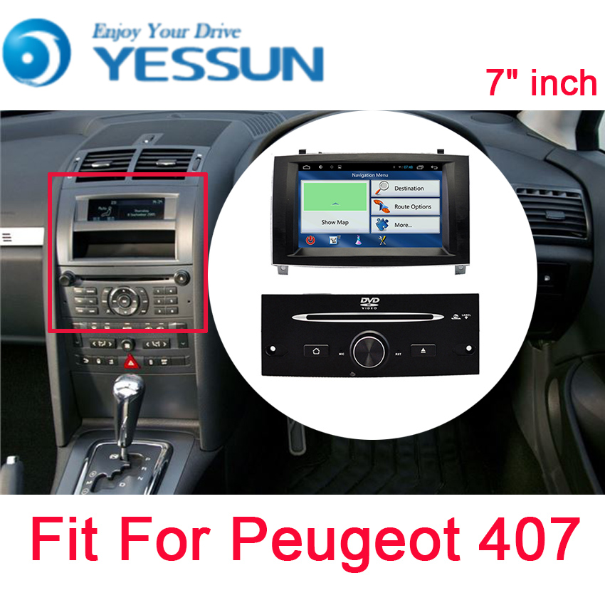 все цены на YESSUN Android Radio Car DVD Player For Peugeot 407 2004~2010 Stereo Radio Multimedia GPS Navigation with WIFI Bluetooth AM/FM онлайн