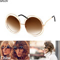 2016 Big Round Frame Sunglasses Women Circle Bicyclic Female Face Generic Fashion Personality Sun Glasses Gafas Feminino Coating