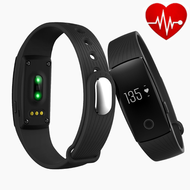 ID107 Bluetooth Waterproof Smart Bracelet Smart Band Heart Rate Monitor Wristband Fitness Tracker for Android iOS VS Mi Band 2