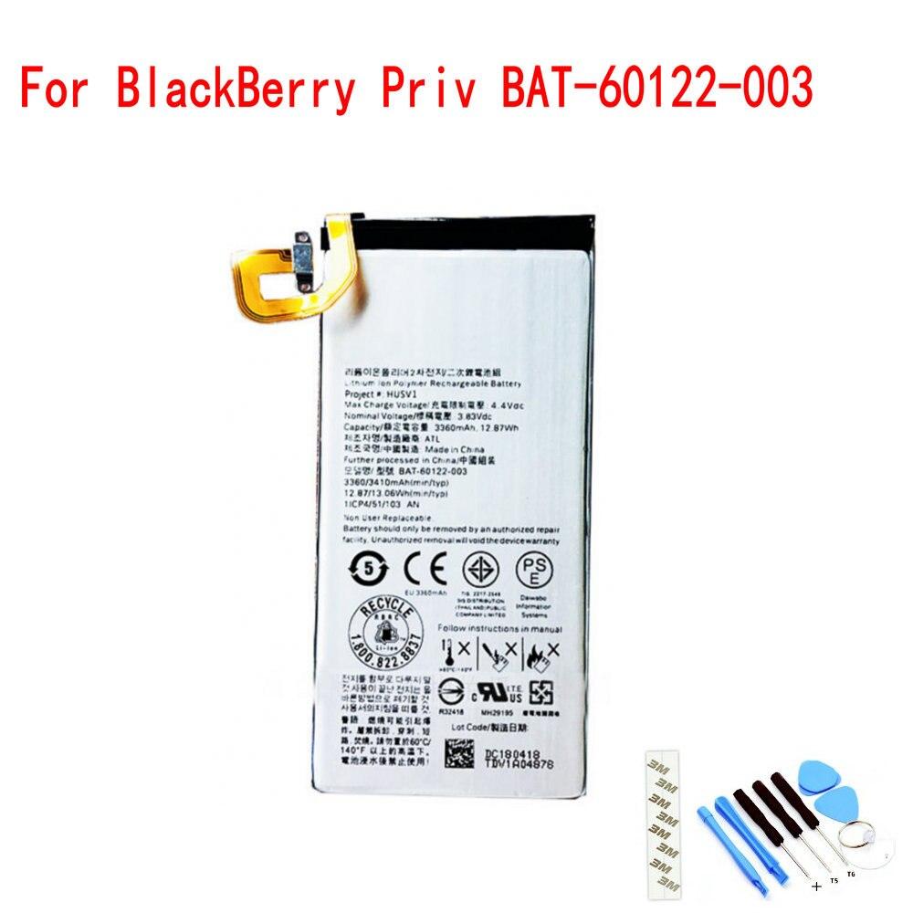 100% NEW Original BAT-60122-003 3.8V 3360mAh Battery For BlackBerry Priv Mobile phone(China)