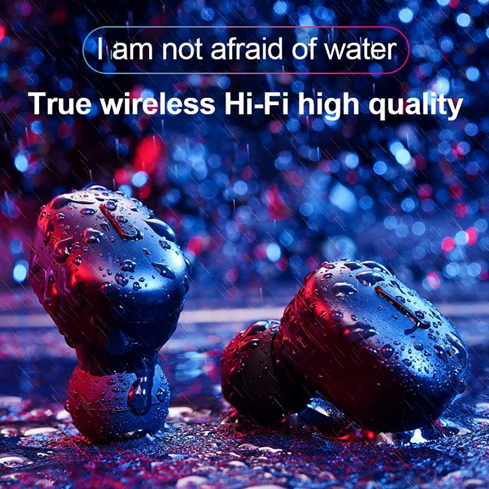 T1 TWS Bluetooth V5 0 Earphone Hi Fi Stereo Sound Earphone Battery reminder call reminder Mini Portable Headset With Mic in Bluetooth Earphones Headphones from Consumer Electronics
