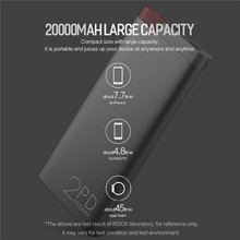 Power Bank 20000mAh for iphone X 8 QC 3.0 Quick Charge External Battery Charger Powerbank for Samsung Galaxy S8 S9