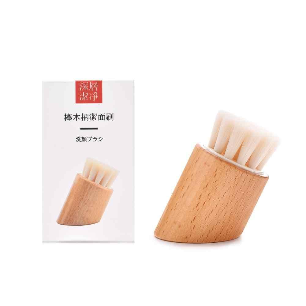 Pro ручки из бука щетка для чистки лица Для женщин мягкая нейлоновая щетина