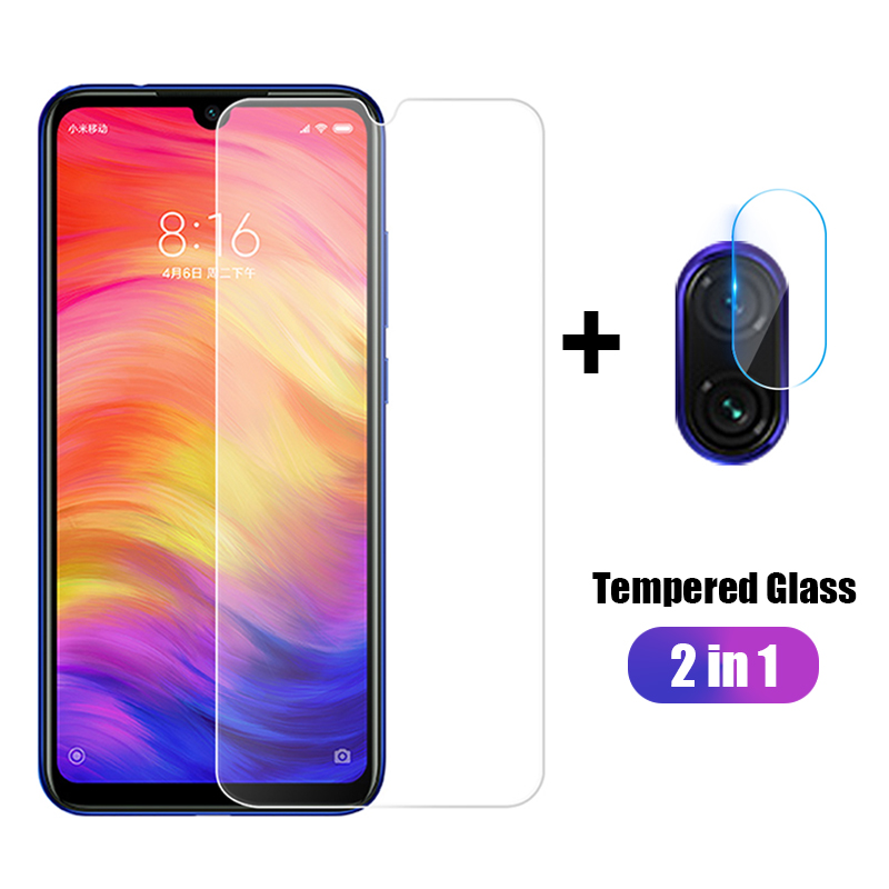 2 In 1 For Xiaomi Redmi Note 7 6 5 Pro 6A Tempered Glass Front Film+Camera Lens Film For Redmi7 Redmi6A 6Pro Protective Film