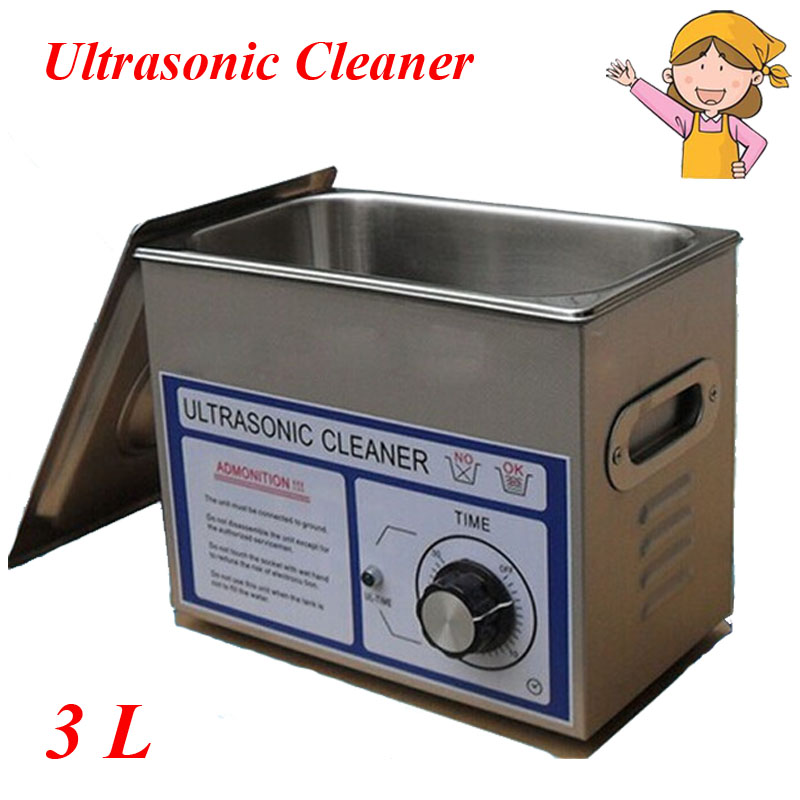 3L Large Capacity Ultrasonic Cleaner Frequency PCB Hardware Lad Equipment with Free Stainless Steel Basket PS 20T