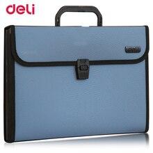 Deli durable waterproof Expanding Wallet Convenient Category Management folder rectangular folders package shape Expanding Walle