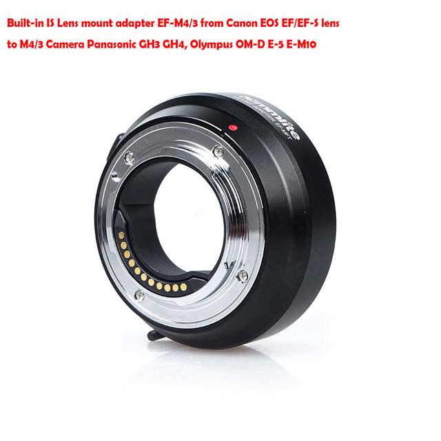 Commlite Eletrônico Controle De Abertura É Adaptador de Montagem de Lente EF-M4/3 a partir de E0S EF/EF-S lens para M4/3 Câmera GH3 GH4 OM-D E-5 E-M10