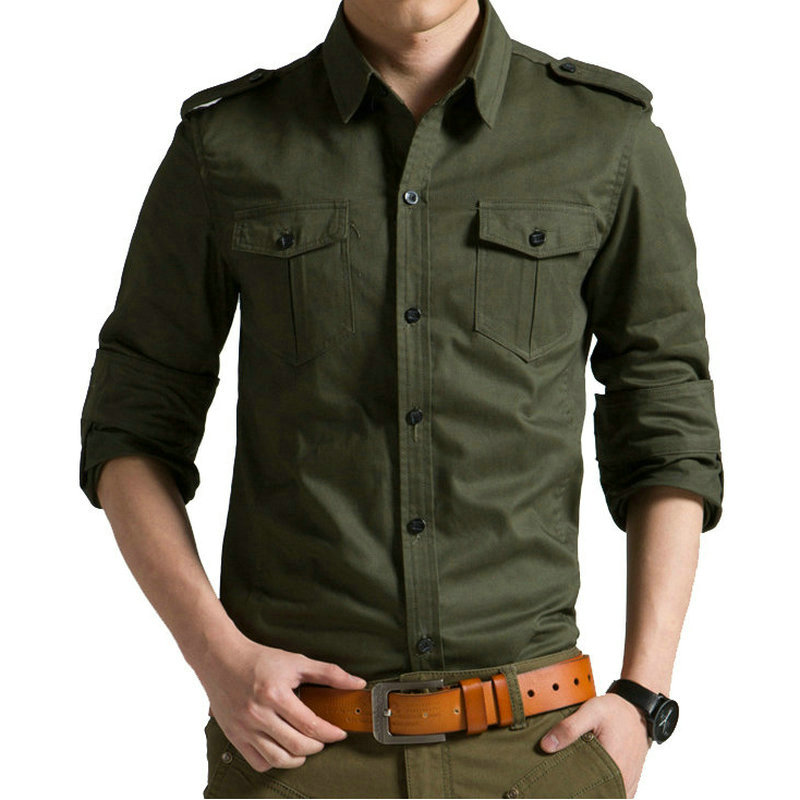 2020 Spring Autumn Casual Cotton Men Shirt Long Sleeve Slim Mens Shirt