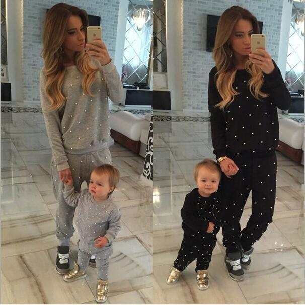 BKLD Tracksuit 2 Piece Set Suit New Winter Pullover Nail Bead Causal Sweatsuit Sweatpants Hoodie Coat+Pants Suits Plus Velvet