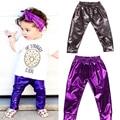 Children Clothing PU Pants For Girls Leggings Warm Baby Pants Kids Fleece Pencil Trousers For Baby Girls Pants