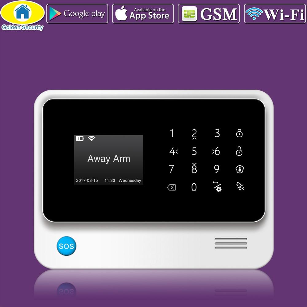 Golden Security G90B Plus WiFi GPRS 2G GSM Autodial Security Alarm System APP Control PIR Detector Door Sensor Alarm Host