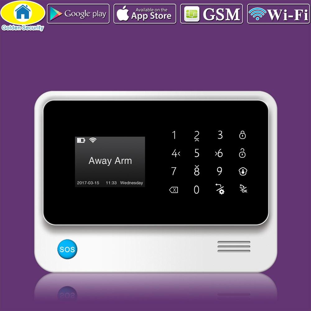 Or Sécurité G90B Plus WiFi GPRS 2g GSM Numérotation Automatique D'alarme de Sécurité/Personnaliser Système D'alarme APP Contrôle PIR Détecteur porte Capteur