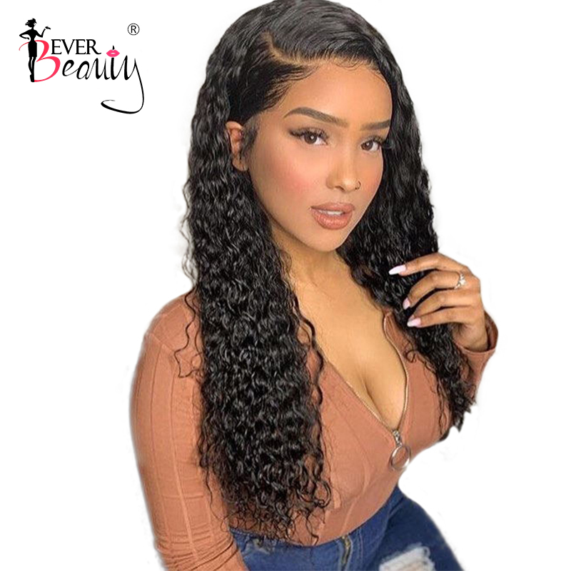 Full Lace Human Hair Parykker For Women Black Short Loose Curly Lace Front Hair Parykker 130% Tetthet Glueless Brazilian EverBeauty Remy