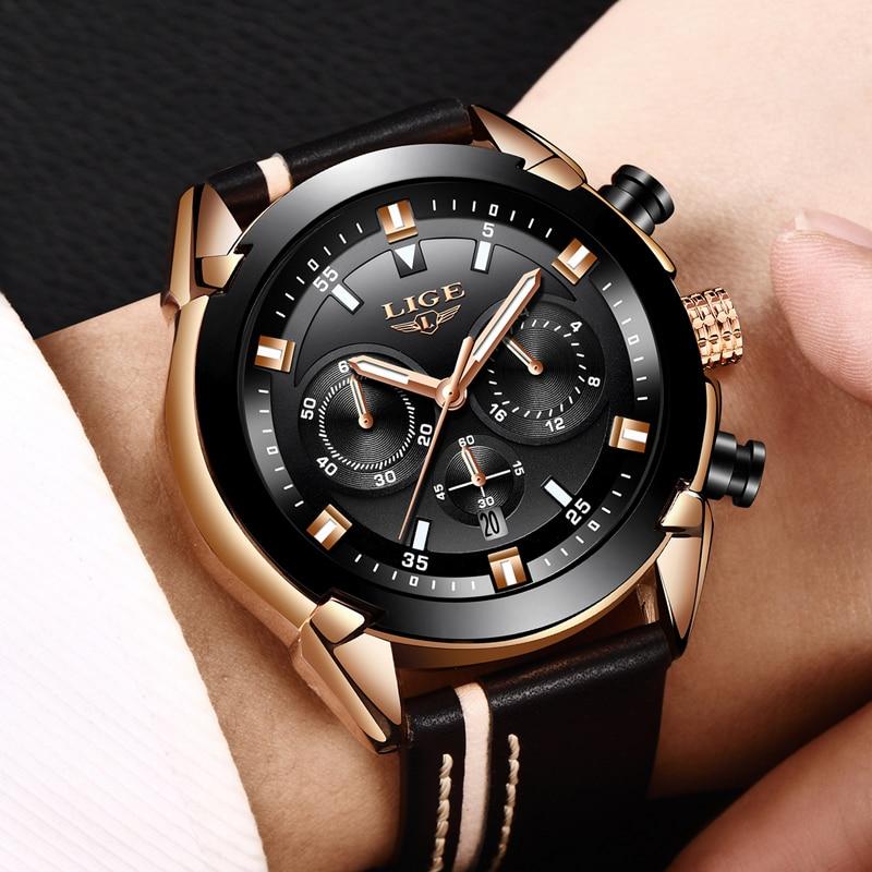 Hombres Reloj de la marca LIGE Hombre impermeable Deportes Relojes de - Relojes para hombres