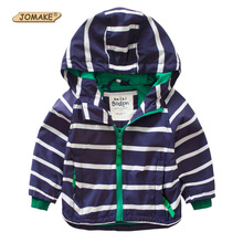 Striped Boys Hooded Jacket Spring Brand Designs Children Outerwear & Coats Sport Boys Jackets Kids Clothes Toddler Boy Clothing
