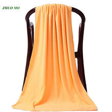 80*180cm Microfiber Plain Towel Quick-Drying Beach Towels Spring/Autumn Swimming Spa Home a