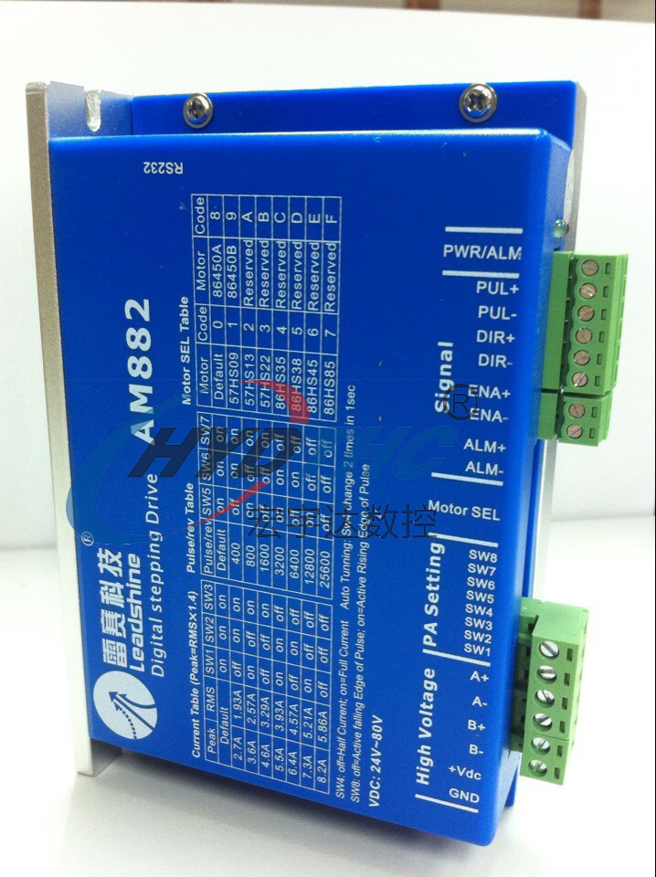 Best price Leadshine AM882 Stepper Drive Stepping Motor Driver 80V 8.2A with Sensorless Detection 2pcs lot leadshine 2 phase high precision stepper drive am882