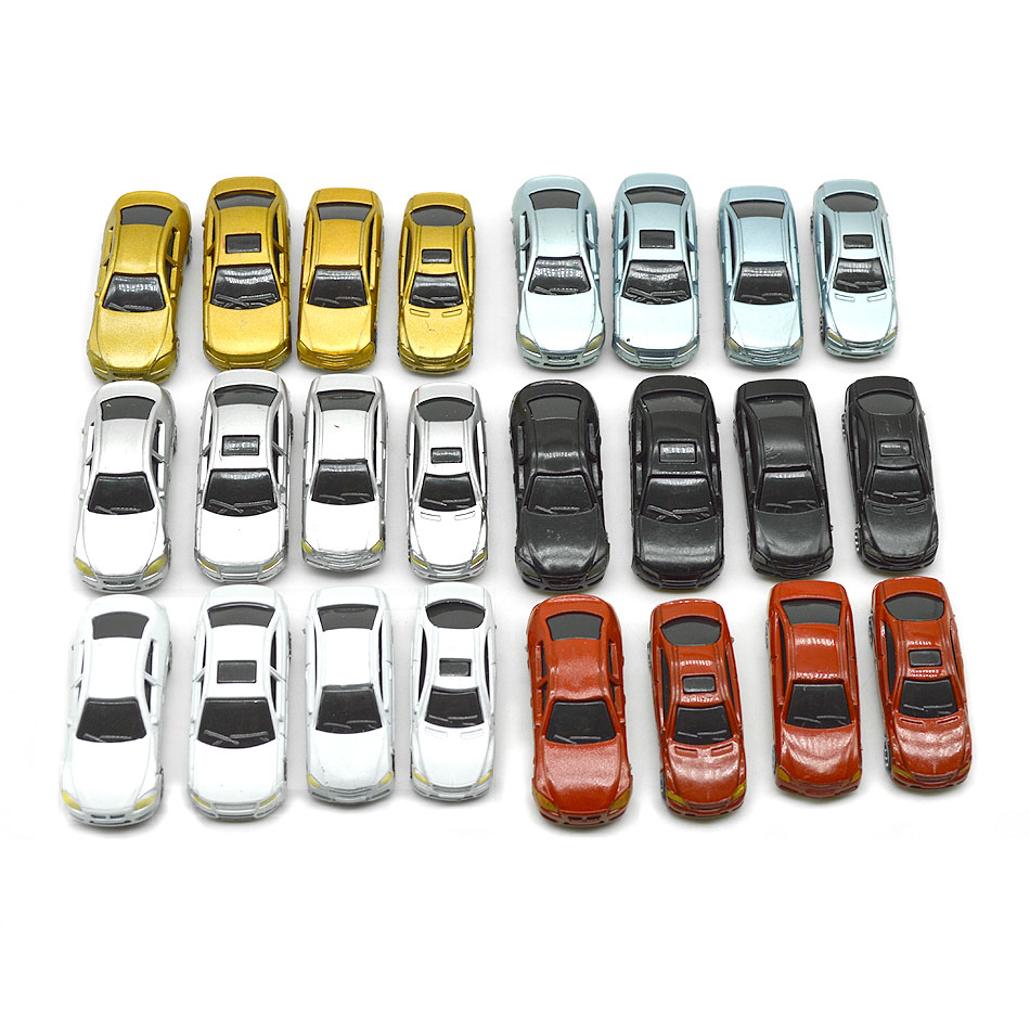 50pcs/lot HO/TT/N/Z Scale Model Car  Children Toy Model Resin Kits Car With Good Quality Diorama Building Layout Plastic