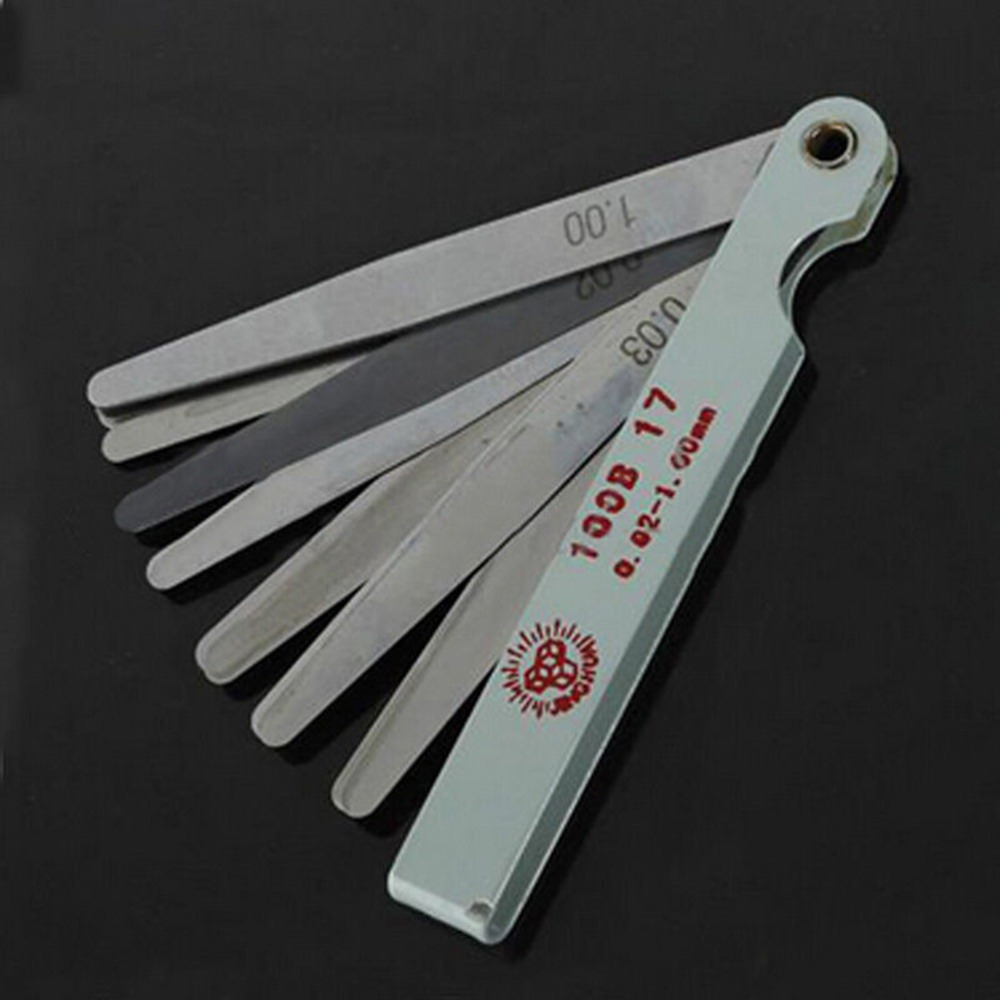 Offset Feeler Gauge 17//20 Blades Feeler Gauges Feeler Gauge Set Steel Blades Feeler Gauge Metric Gap Gauge 0.02-1.00 mm for Measurement Gap Width//Thickness//Metric Sizes