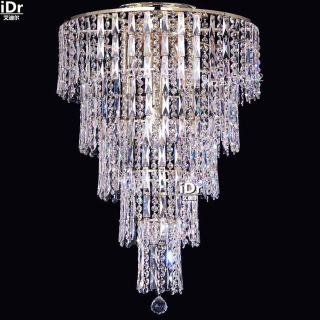 Gold Ceiling Lights Modern Flush Mount Small Crystal Lamp Bedroom Hotel Lobby D50cm X H90cm
