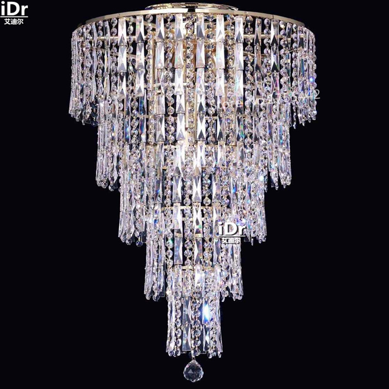 gold Ceiling Lights modern flush mount small crystal lamp bedroom lamp hotel lamp lobby lamp D50cm x H90cm