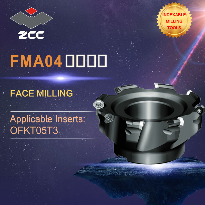 ZCC.CT original face milling cutters FMA04 high performance CNC lathe tools indexable milling tools close and even pithch 45 DEG