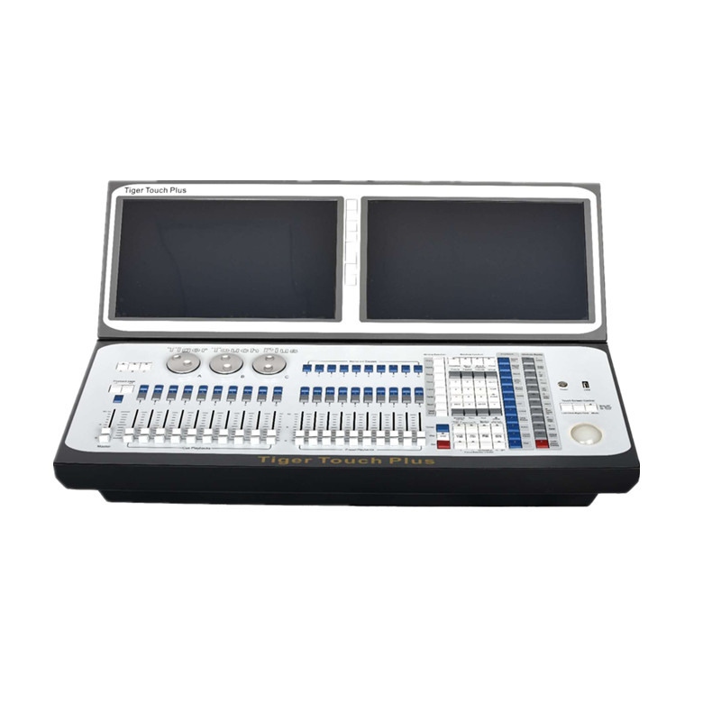Новое поступление Тигр Touch Plus DMX движущегося света контроллер двойной экран DJ консоль с кейс i7 Titan 10.1 версия disco