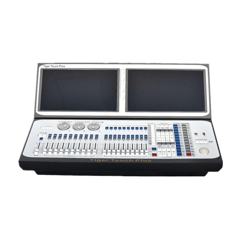 Новое поступление Тигр touch плюс dmx перемещение свет контроллер двойной экран dj консоли с кейс i7 i5titan 10,1 версия disco