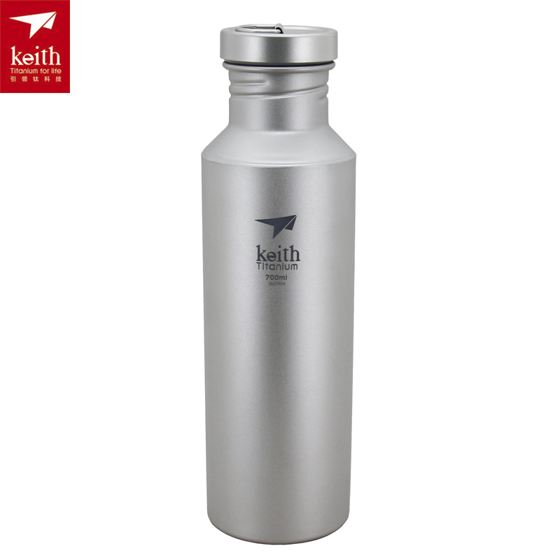 Keith 400ML-700ML Titanium Bottle Titanium Water Bottle Sports Bottle Ti3030/Ti3052 eyki h5018 high quality leak proof bottle w filter strap gray 400ml