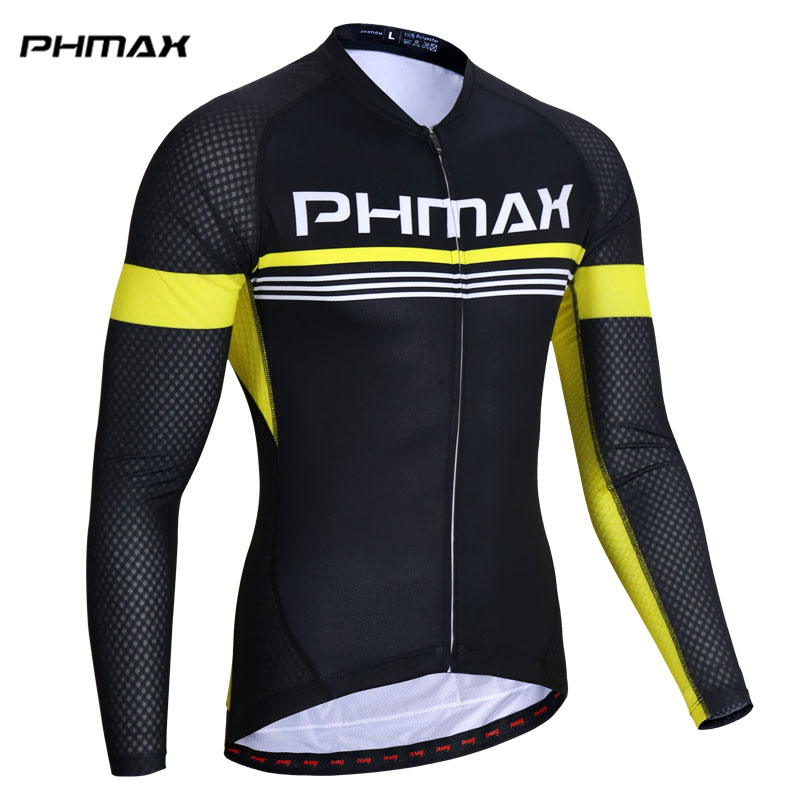 PHMAX Breathable Cycling Jerseys MTB Bicycle Cycling Clothing Maillot Ropa Ciclismo Racing Bike Clothes Sportswear For Mans