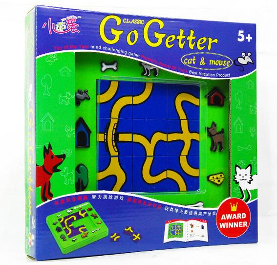 Candice guo plastic toy cartoon puzzle game baby birthday gift go getter cat and mouse Intelligence