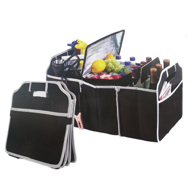 New Qualified Multipurpose Trunk Pouch Car Glove Box Storage Cubby Box Collapsible Car Bag Levert Dropship dig637