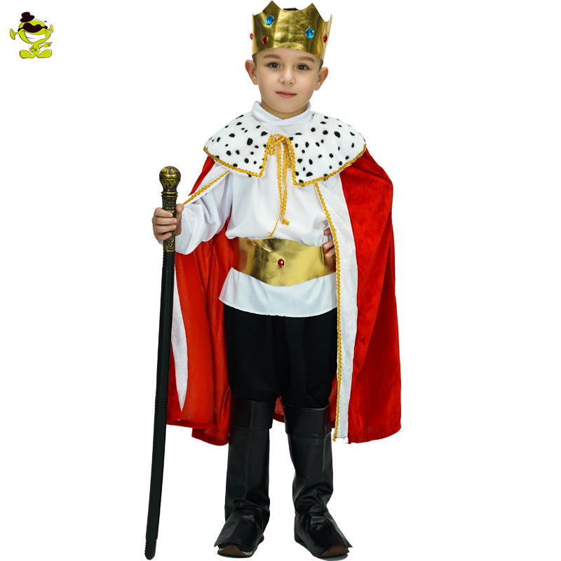 2017 kids Prince Costume for Children Halloween Cosplay The King Costumes Children's Day Boys Fantasia European royalty clothing