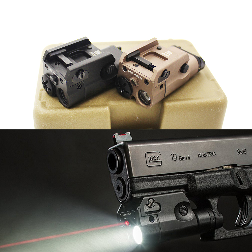 2018 NEW 200 Lumen XC2 Pistol MINI Light with Red Dot Laser sight Tactical Military Airsoft Hunting Flashlight Used