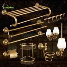 Классический Латунный резной настенный набор для ванной комнаты, аксессуары, Европейский солидный набор аксессуаров для ванной комнаты, вешалка для полотенец