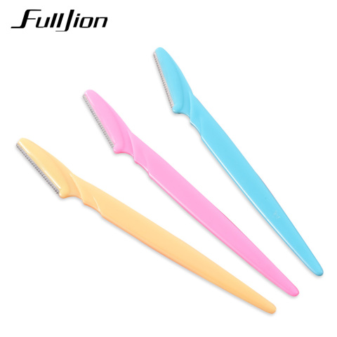 Fulljion 3Pcs/Set Women Eyebrow Razor Facial Hair Remover Eyebrow Trimmer Eye Brow Shaver Makeup Knife Face Care Hair Removal Lahore