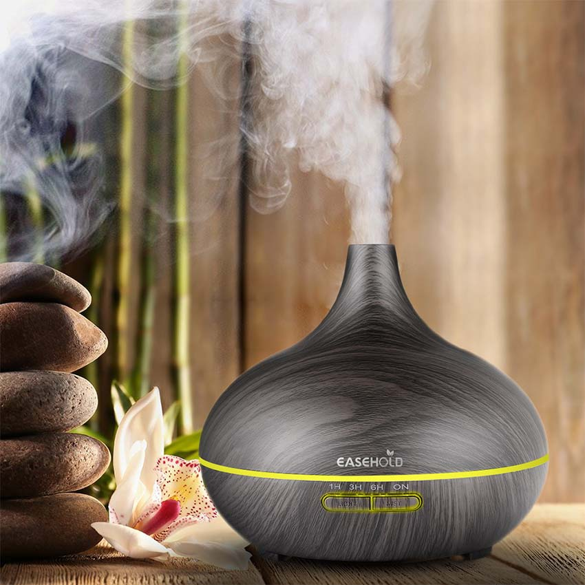 EASEHOLD 300ml Air Humidifier Essential Oil Diffuser Wood Grain Aromatherapy Diffusers Aroma Mist Maker 7 Led Lights For Home kbaybo 400ml air humidifier essential oil diffuser wood grain aromatherapy diffusers aroma mist maker 24v led light for home