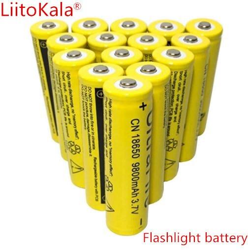 Prix pour 40 Pcs/ensemble 18650 batterie 3.7 V 9800 mAh rechargeable au lithium-ion batterie pour Led lampe de poche Torche batery litio batterie + Livraison gratuite