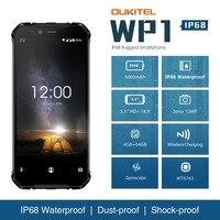 OUKITEL WP1 IP68 Waterproof Android 8.1 Smartphone 5.5'' FHD Octa Core 4GB RAM 64GB ROM Wireless Charging Dual SIM Mobile Phone