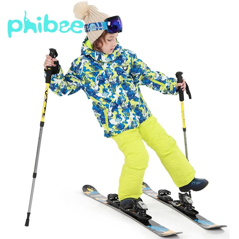 Phibee Boys Winter Ski Suit Skiing Jackets Kids Clothes Warm Waterproof Windproof Outdoor Coat Breathable Children ClothingPhibee Boys Winter Ski Suit Skiing Jackets Kids Clothes Warm Waterproof Windproof Outdoor Coat Breathable Children Clothing
