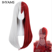 Anime Boku no Hero Academia Todoroki Shoto Long Wig Cosplay Costume My Hero Academia Women Synthetic Hair Wigs + Wig Cap