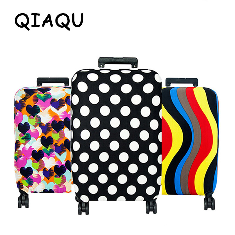 QIAQU High Quality Fashion Rejseelasticitet Bagage Cover Beskyttende Kuffert Cover Trolley Case Travel Bagage Støvdæksel