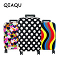 QIAQU High Quality Fashion Travel elasticity Luggage Cover Protective Suitcase cover Trolley case Travel Luggage Dust cover