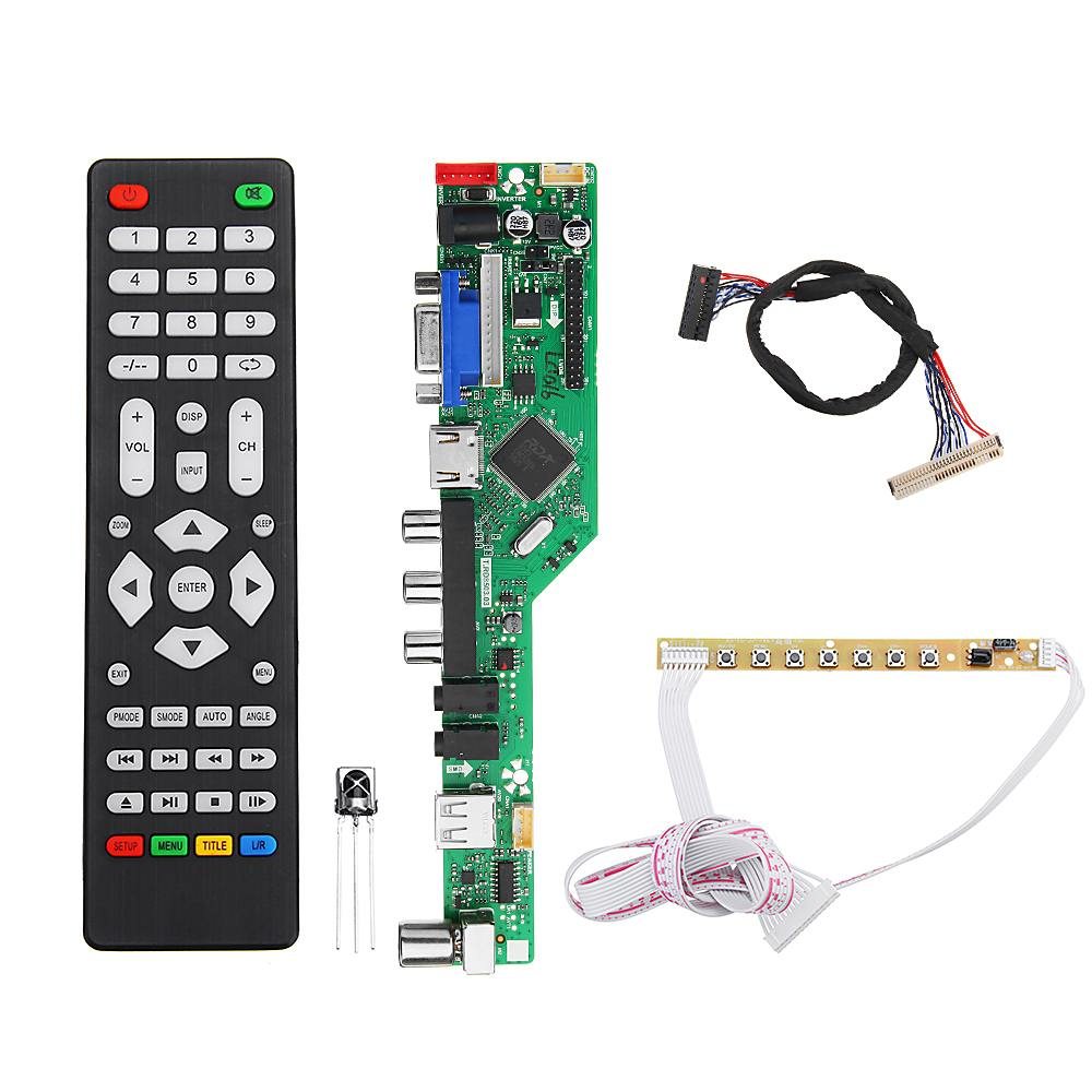 T.RD8503.03  Digital Signal DVB T2 DVB T/C Universal LED LCD TV Controller Driver Board + 7 Key Button + 1Ch 6bit 30pin-in Integrated Circuits from Electronic Components & Supplies