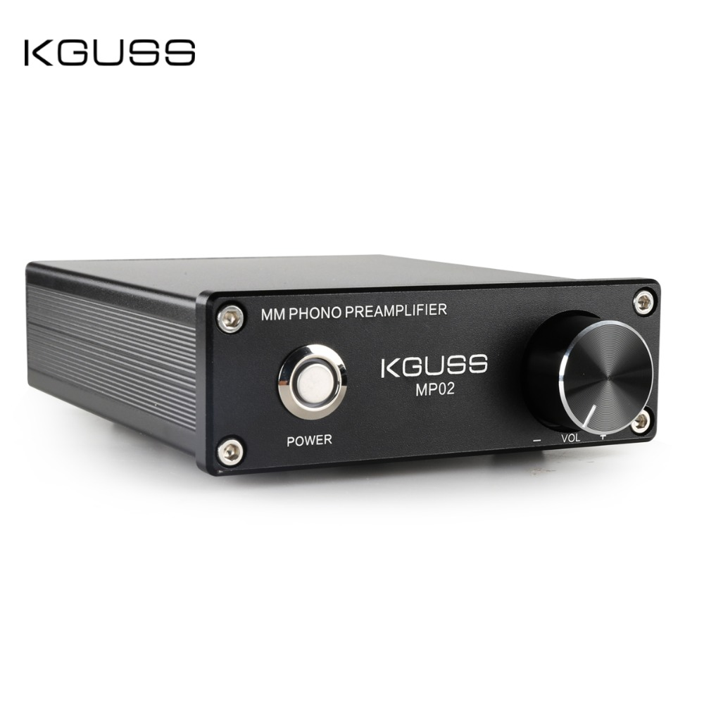 KGUSS MP02 LP vinyl record player mini MM PHONO phono preamp audio amplifier